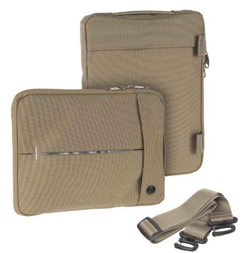 Travel Hülle Umhängetasche / Businesstasche Tasche in Braun für Alcatel Plus 10