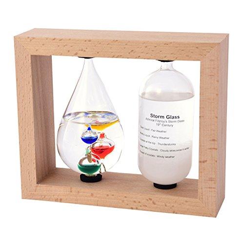 茶谷産業 温度計・湿度計 ベージュ 高さ14.5×幅17.5×奥行6cm