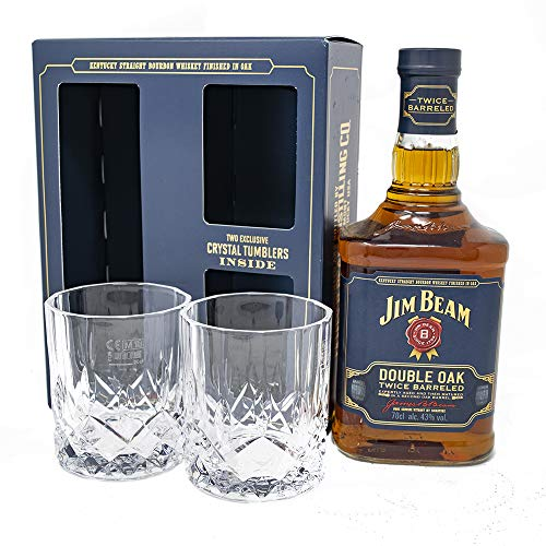 Jim Beam Double Oak Whiskey Glass Gift Set