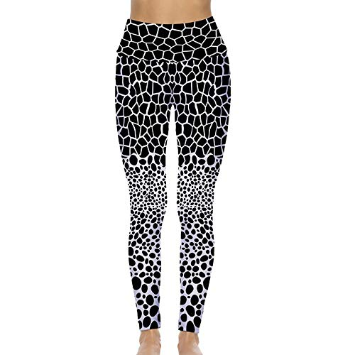 A-HXTM Leggings Deportivos para Mujer con Estampado De Fitness De Cintura Alta Leggings Deportivos Push Up Leggins Sport Women Fitness Sportswear Yoga Pants-Black_M_Style