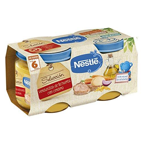 Nestlé Selección puré de verduras y carne, variedad Verduritas de la Huerta...