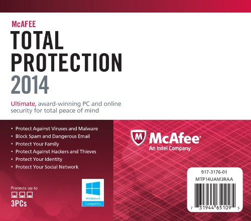 McAfee Total Protection 2014 - 3 User - 1 Year [import anglais]