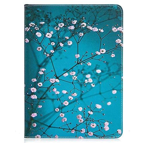 Funda para Apple iPad Air, iPad 4, 3, 2, iPad Mini 3, 2, 1 cartera, tarjetero y función atril, piel sintética, diseño de flores
