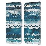Head Case Designs Licenciado Oficialmente Ninola Playa de Las Olas del mar Moderno 2 Carcasa de Cuero Tipo Libro Compatible con Apple iPhone 6 Plus/iPhone 6s Plus