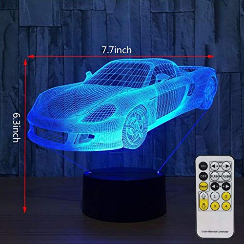 oder Toy Car Nachtlicht 3D LED Tischlampe Kinder Geburtstagsgeschenk Nachtzimmer Dekoration