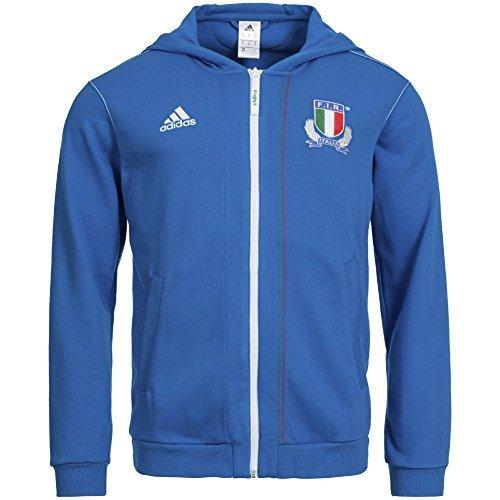 adidas Italia Sudadera con Capucha de Rugby Fir g87584, Todo el año, Color Azul, tamaño Medium