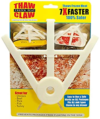 THAW CLAW - Helps thaw frozen meat 7X Faster & 100% Safer - Thaws in minutes instead of hours - Your favorite new kitchen gadget! from Thaw Claw