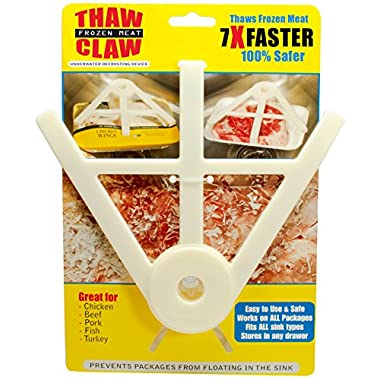 THAW CLAW - Helps thaw frozen meat 7X Faster & 100% Safer - Thaws in minutes instead of hours - Your favorite new kitchen gadget!