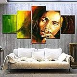 CHUADIAD Bob Marley HD Leinwand Gemälde Wandkunst Spiel 5