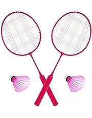 Veemoon 1 Juego de Juguetes de Raqueta de Bádminton Juego de Raqueta de Bádminton Juego de Deportes Al Aire Libre para Niños con Pelotas Y Bolsa de Transporte para Jugadores Principiantes