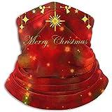 Archiba Adornos Dorados Brillantes Navidad en Rojo Verde Bo Unisex Fleece Neck Warmer Face Warmer Neck Tube Tube Scarf Neck Polainas