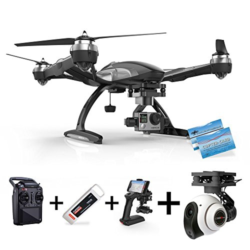 Yuneec Q500 Typhoon G per GoPro + cgo2 + hdkamera: ST10 controllo + Gimbal GB203 + steadygrip G + Video Downlink
