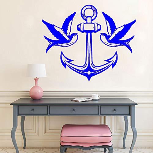 yaoxingfu Dekorative Aufkleber Vögel Swallow Sea Nautical Marine Style Aufkleber Vinyl Kunst Wandtattoo L ww-4 50x42cm