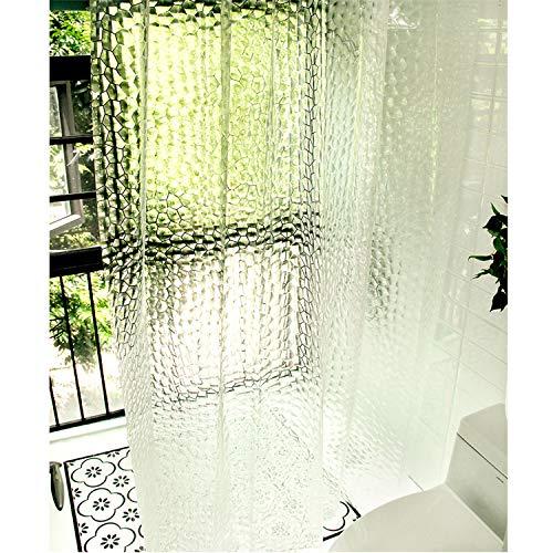 Comius Sharp Duschvorhang, Eva Duschvorhänge mit Kristallstein, wasserdichtem & schimmelresistentem durchscheinendem Badezimmer-Duschvorhang 180 x 200 cm mit 12 Haken