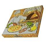 CEPEDANO - 【50 Unidades】Caja de Pizza de Cartón Diseño Italiano 400x400x40mm cajas de Pizza para llevar