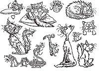 小動物透明クリアシリコンスタンプ/DIYスクラップブッキング用シール/フォトアルバム装飾クリアスタンプシートB076