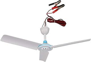 DXX Dc 12 (V) Ventilador de techo para acampar al aire libre/Ventilador de brisa/Ventilador de viaje/Ventilador pequeño silencioso/Ventilador de techo de ahorro de energía
