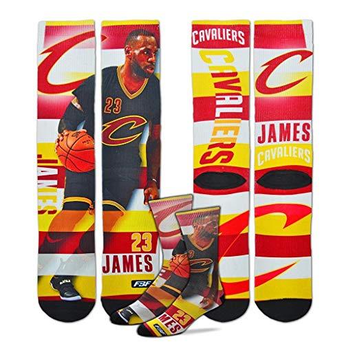 Cleveland Cavaliers NBA de rayas de tamaño de la juventud pro Crew Calcetines de niños (4–8años) 1par–Lebron James # 232
