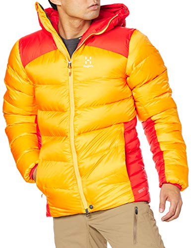 [ホグロフス] 撥水ダウン モジョ ダウン フード Mojo Down Hood Men メンズ Pumpkin yellow/habanero UK M (日本サイズL相当)
