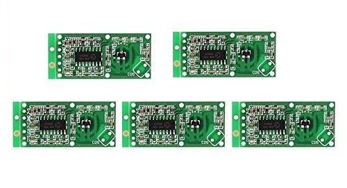 ARCELI 5PCS Sensor de Radar de microondas RCWL-0516 Módulo de Interruptor Detector de Placa de inducción Humana