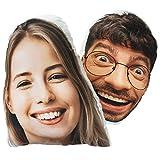 Personalisiertes 3D Gesicht FOTOGESCHENK mit eigenem Foto (30 x 45 cm) Foto-Kissen mit Deinem Foto Bedrucken Zum Jahrestag, Geburtstag, Valentinstag (mit Füllung) 3D Face [091]