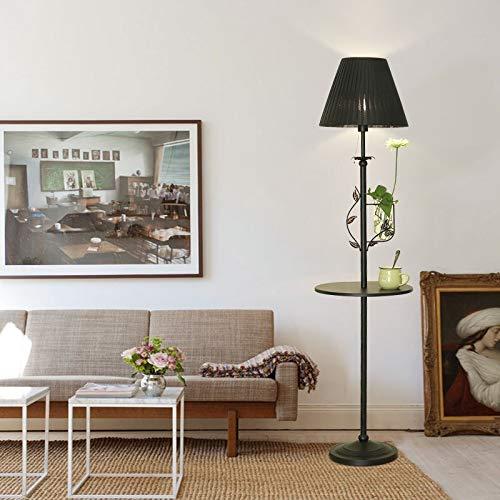 DSM Nordische Stehleuchte Wohnzimmer Regal Couchtisch-Lampe warmes kreatives Schlafzimmer Nachtside vertikale Lampe 160cm (Color : Black, Size : White Light)