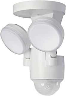 LP-1803-WH 180-Degree White Motion Activated Outdoor Integrated LED Flood Lights with 1100 Lumens (White)