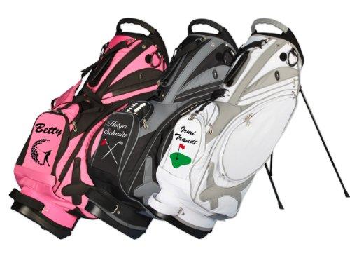 Kellermann Golf sacca da golf tracolla Muirfield in rosa personalizzata con motivo di golf/nome