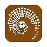 Dudifeng - Reloj de pared de acrílico con diseño geométrico, abstracto, 3D, para decoración del hogar, cristal, color negro
