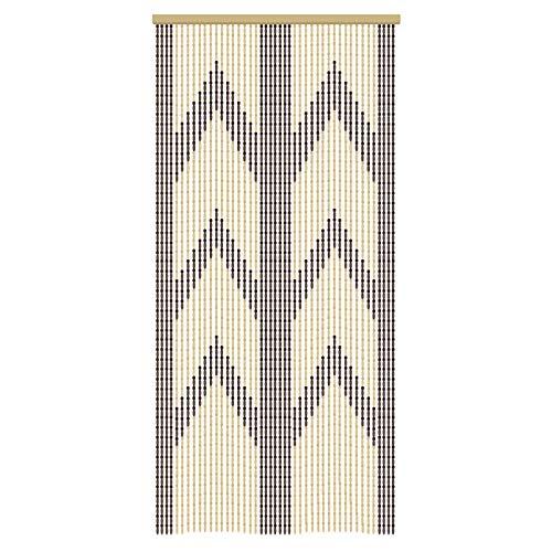 Tende in legno Beaded String Bead Curtain per le porte, porta a perline in legno Living Room Partition Retro Style, Partitions chiude le tende fatte a mano,45trefoli,90×200cm