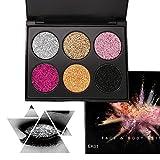 Glitter Tavolozza di trucco dell'ombretto, KRABICE Palette di Ombretti Shimmer Face Makeup Kit Gel...