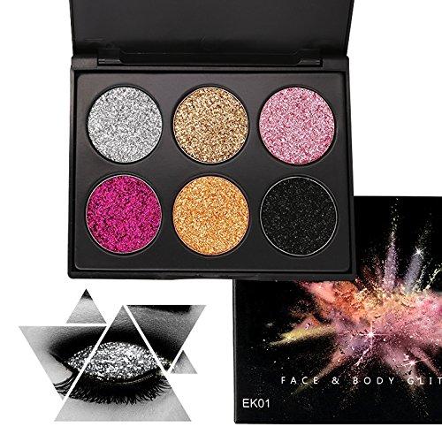 Glitter Polvo Paleta de Maquillaje Profesional