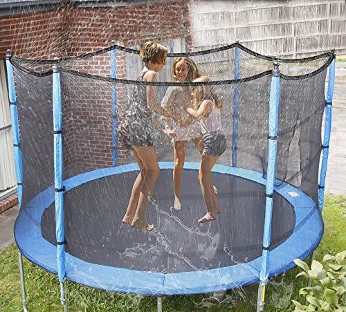 NHAO Trampolín de riego, aspersores de Juego Divertido Parque acuático de Verano al Aire Libre Juego de Agua Juguetes Accesorios de Agua al Aire Libre para los niños (39ft / 12m)