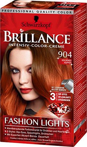 Brillance Intensiv-Color-Creme 904 Goldenes Kupfer Fashion Lights Stufe 3