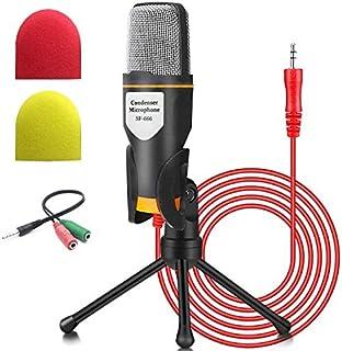 Micrófono de PC NIERBO con soporte de micrófono, micrófono de condensador de grabación Jack profesional de 3.5 mm Compatib...