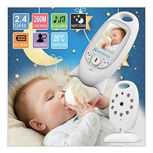 Hahaiyu Monitor Video Baby Monitor, Display Portatile, bidirezionale Voice citofono, Visione Notturna Automatica, Temperatura Display, Monitor LCD a Colori, Schermo Portatile