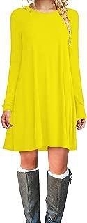 Best long sleeve yellow dress Reviews