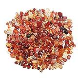 YiYa Rosso Pietra di Agata Ghiaia Pietra Gemma Quarzo Cristallo Naturale Usato per la Decorazione Domestica Vaso Riempito Piscina Piante in Vaso Decorazione (Circa 310 g/Borsa)
