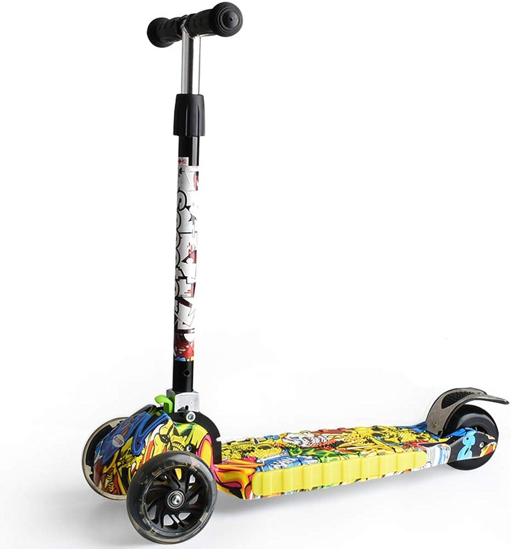 barato y de alta calidad Zhijie-chezi Multifuncional 3 en 1 Scooter Plegable Plegable Plegable de música para Niños Scooter para Niños de 3-12 años (Color   Fashion Street Dance)  comprar descuentos