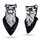 Yoption Seamless Bandana Ghost Skull Face Scarf Neck Gaiter for Dust Motorcycling Cycling Sports Festivals