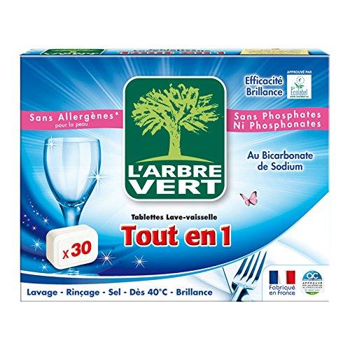 puissant L'Arbre Vert – Tablette lave-vaisselle All-in 1 – 30 doses