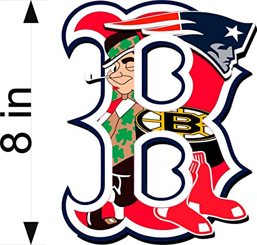 Bermuda Shorts Graphics Boston Sports Fan/B Logo / 8' Decal/Patriots/RED SOX/Bruins