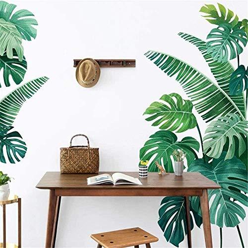 Esmee Hojas de plátano Pegatinas de Pared Vinilo Decorativo con Para Salón, Oficina, Baño, Cocina, Dormitorio, Decoración del hogar.