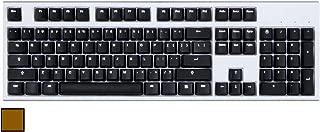 Code V3 104-Key Illuminated Mechanical Keyboard - White LED Backlighting, White Case (Cherry MX Brown)
