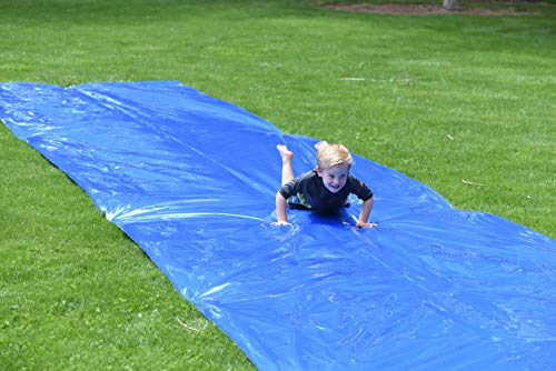 small Squirrel Products Backyard Blast Large 30'x 6'Waterslide – Easy to Install – Extremely Thick…