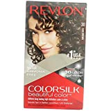 Revlon ColorSilk Hair Color, 30 Dark Brown 1 ea (Pack of 5)