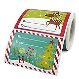 Enkomy 250 Piezas De Pegatinas De Dibujos Animados De Navidad Etiquetas De Pegatinas De Navidad Decoraciones Sobres Bolsas De Regalo Bolsas De Papel Tarjetas De Navidad