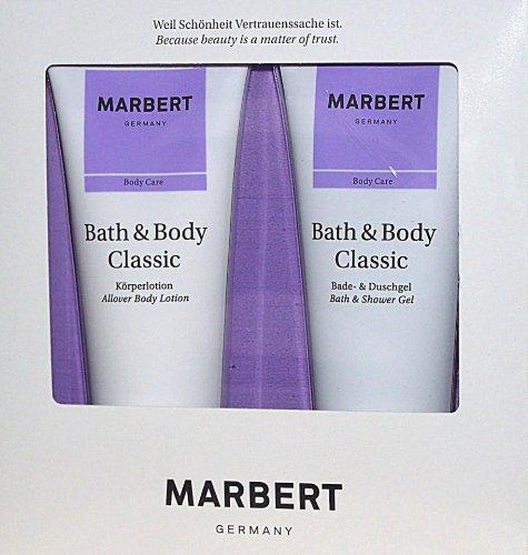 Marbert Bath & Body Classic Körperpflegeset (Duschgel, 200ml + Körperlotion,200 ml), 1er Pack (1 x 1 Stück)
