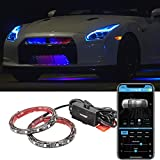 Type S LM56042-6/2 Underglow Underbody 72' Exterior, LED Neon Strip, Music Under Glow Kits Atmosphere Lights with Bluetooth
