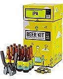 Kit de Brassage Intermédiaire Complet, Je Brasse et j'embouteille 4 litres de bière - Idée Cadeau 100% expérience...